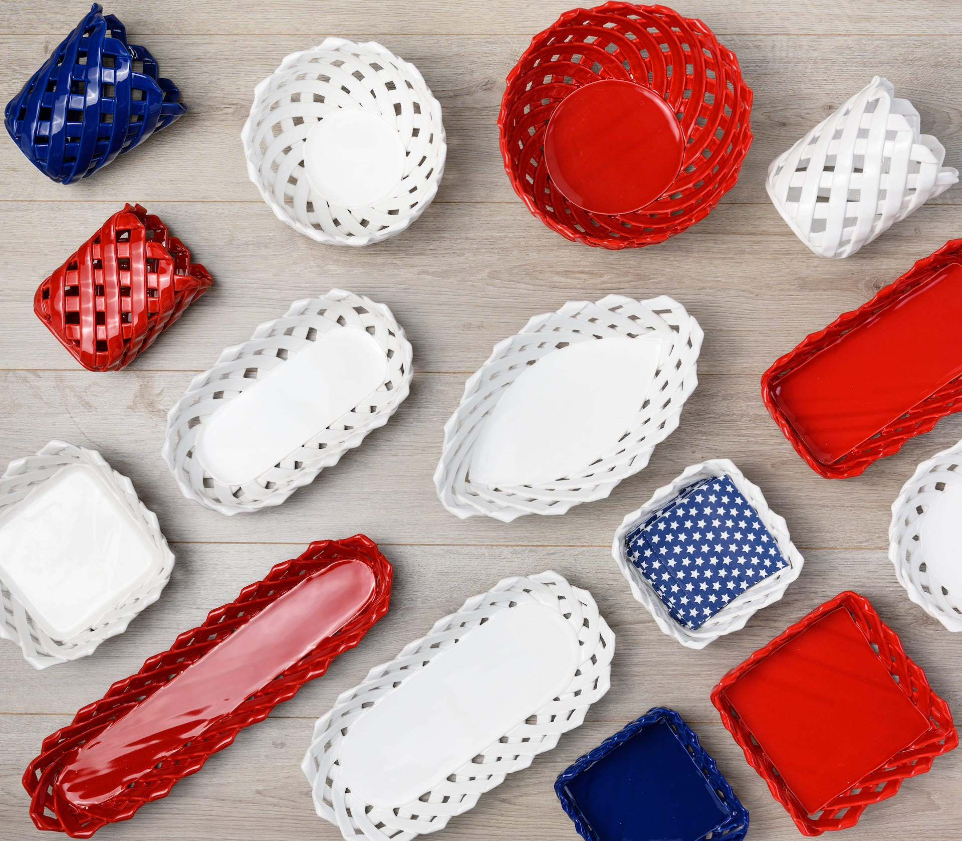 Ceramic Woven Baskets